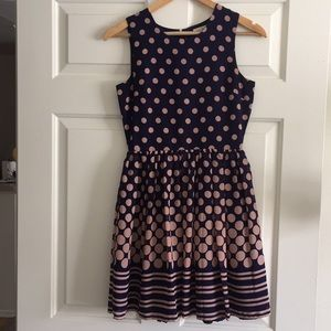 Super Cute Navy And Pink Dress